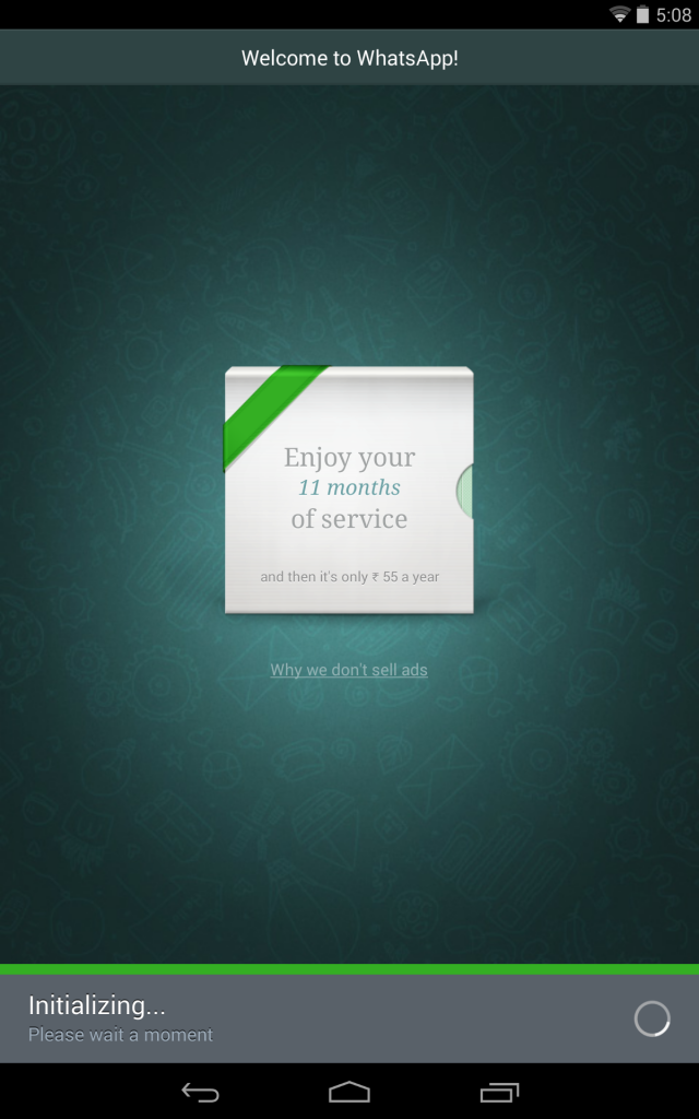 install WhatsApp on Wi-Fi only Tablet