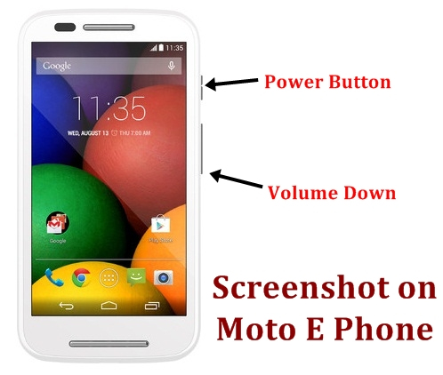 How to take Screenshot on Moto E black and white