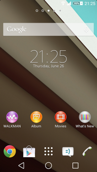 Android L Theme Xperia