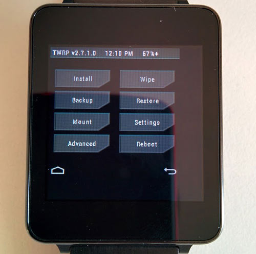 Root LG G Watch and install TWRP Custom Recovery