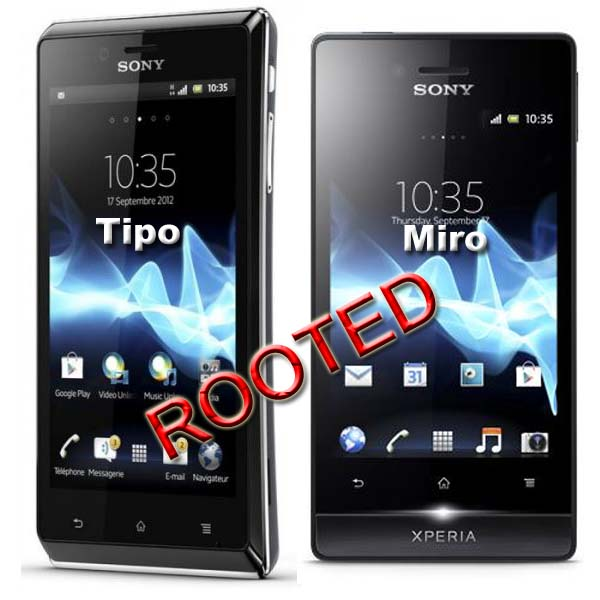 Root Xperia Tipo ST21i, Xperia Tipo ST21a, Xperia miro ST23i and Xperia Miro ST23a