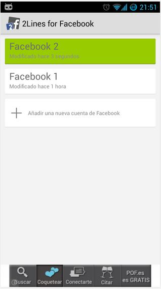 use more than one Facebook account on same device