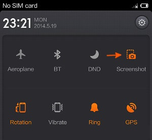 take screenshot on Xiaomi Mi3