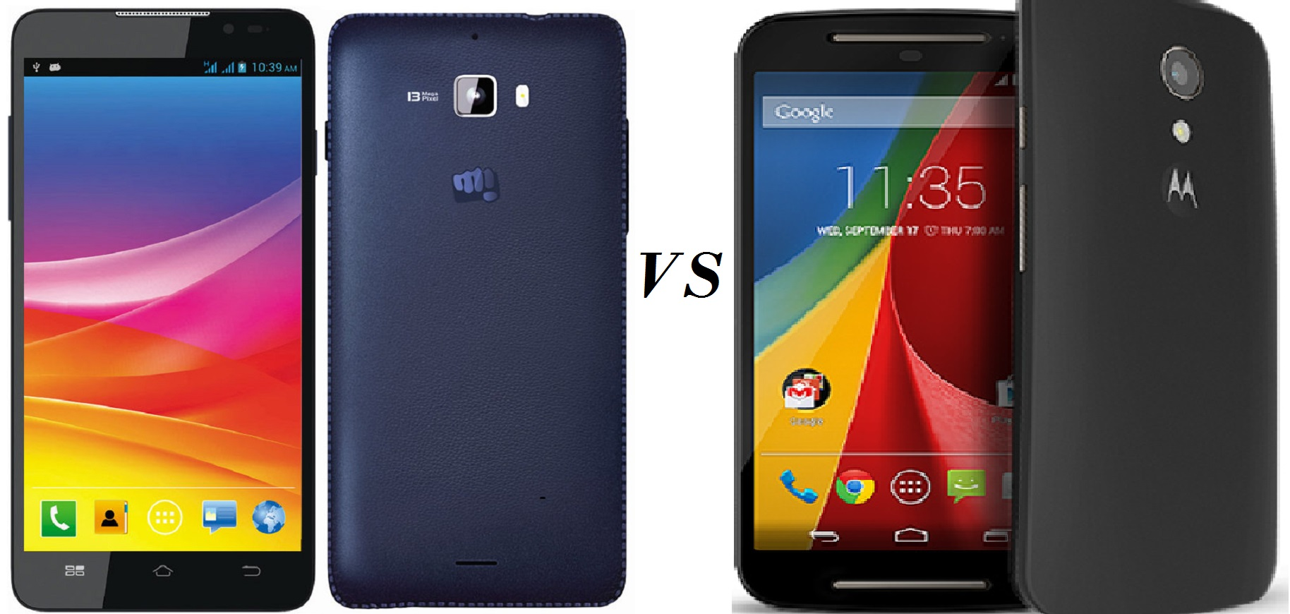 canvas Nitro A310 vs Moto G 2nd gen