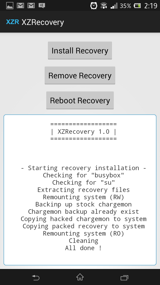 Install TWRP Recovery on Xperia Z without unlocking the Bootloader