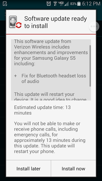 galaxy s5 android 4.4.4 bug fixes