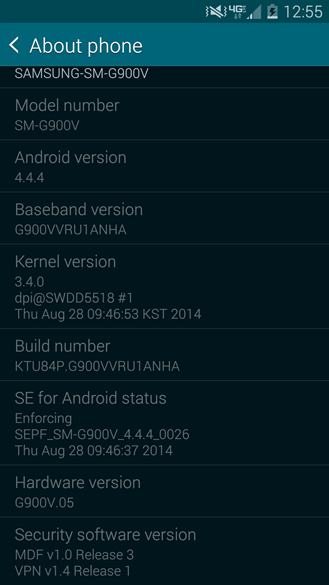 galaxy s5 android 4.4.4 screensht