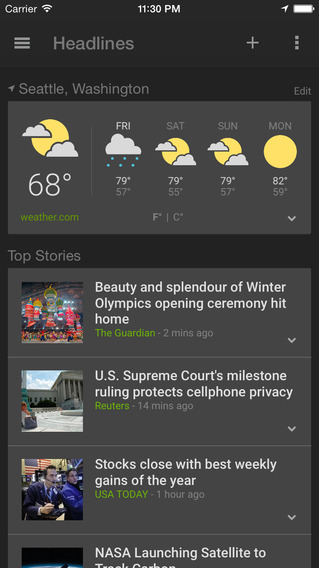 News & Weather application