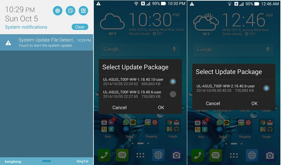 Asus Zenfone 5 Android 4.4 KitKat update