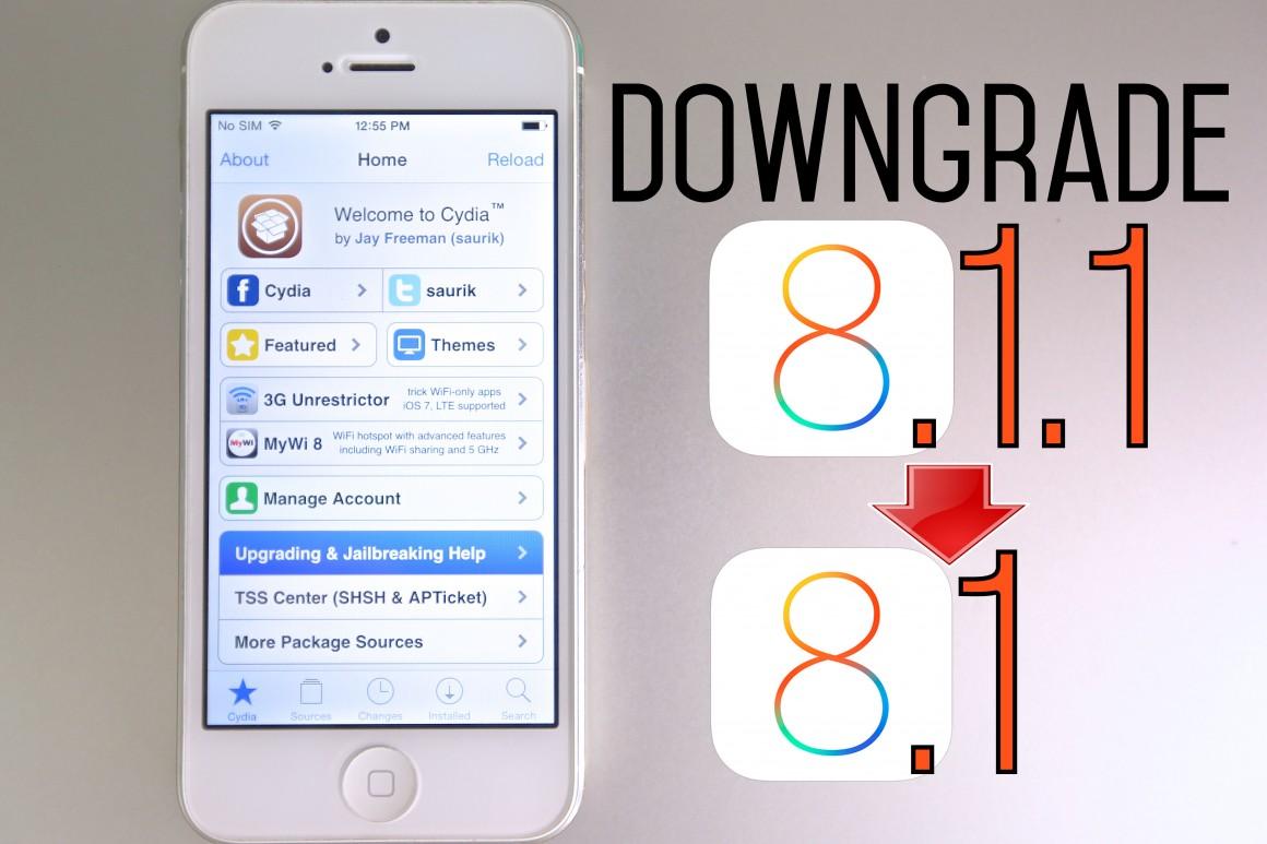 Downgrade iOS 8.1.1