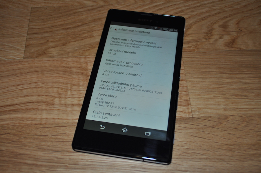Sony Xperia T3 Android 4.4.4 KitKat