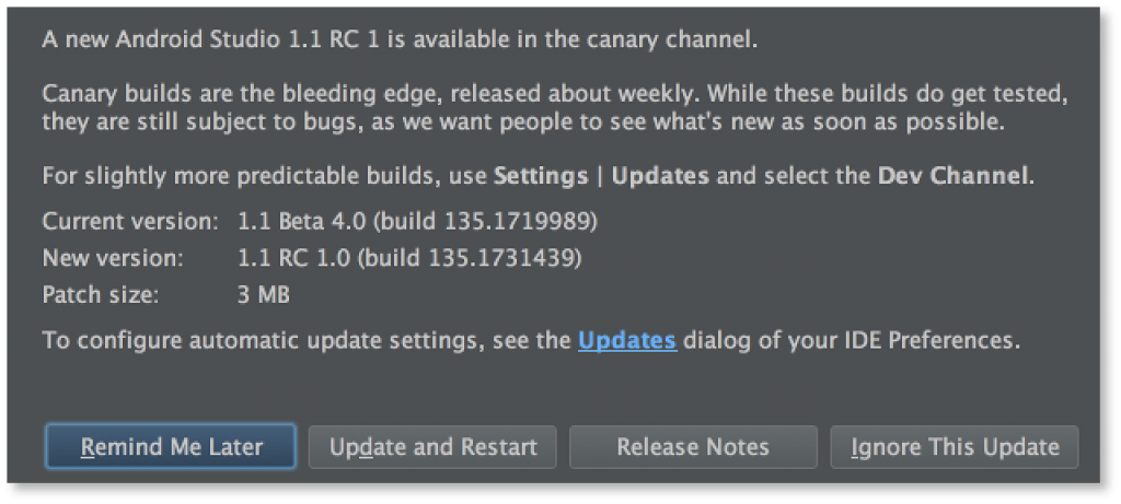 Android Studio 1.1 RC1