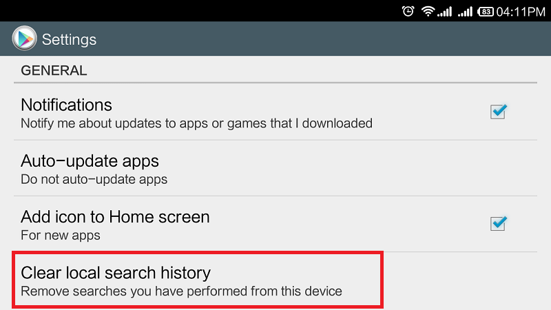How to Clear Google Play Search and Apps History
