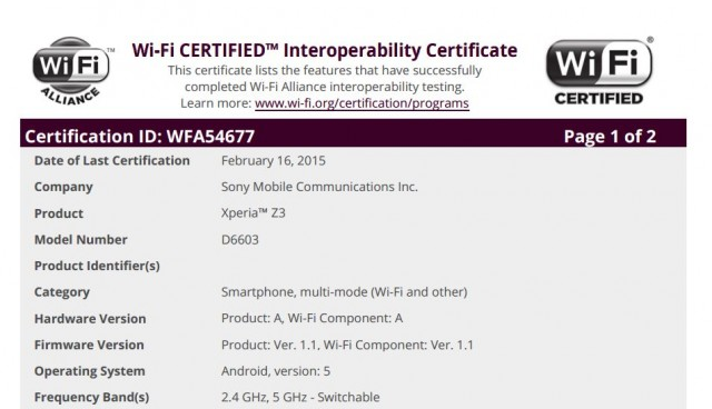Xperia Z3 Android 5.0 Lollipop Official update certified