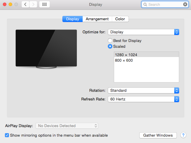 Mac Tips screen resolutions